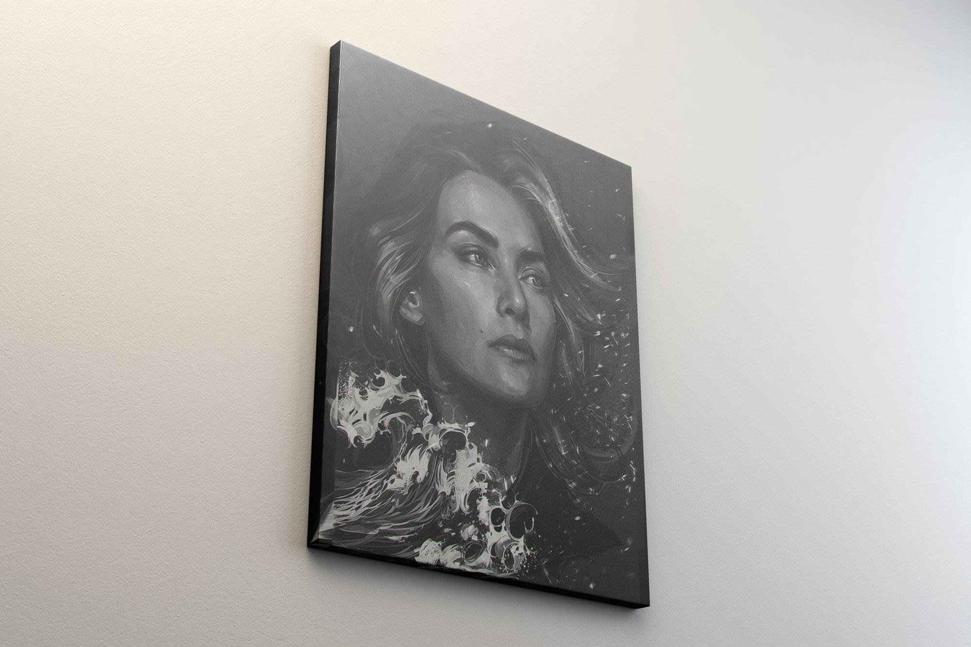 Portrait Canvas 4x5 Mockup