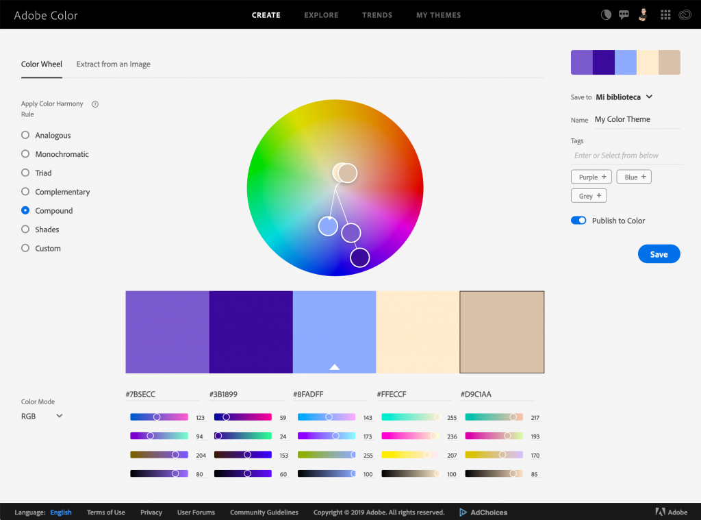 The Most Interesting Color Palette Generators - Adobe Color