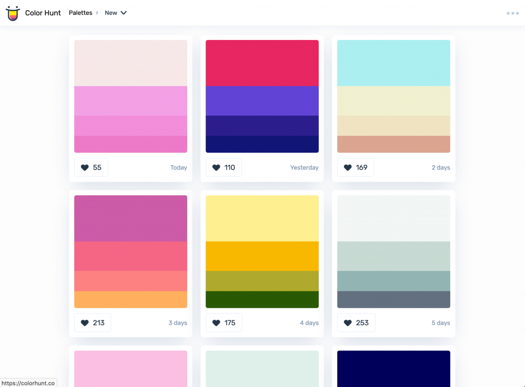 The Most Interesting Color Palette Generators - Colorhunt
