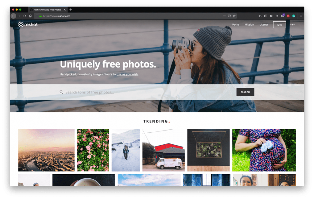 Top Free Stock Photo Sites - Reshot