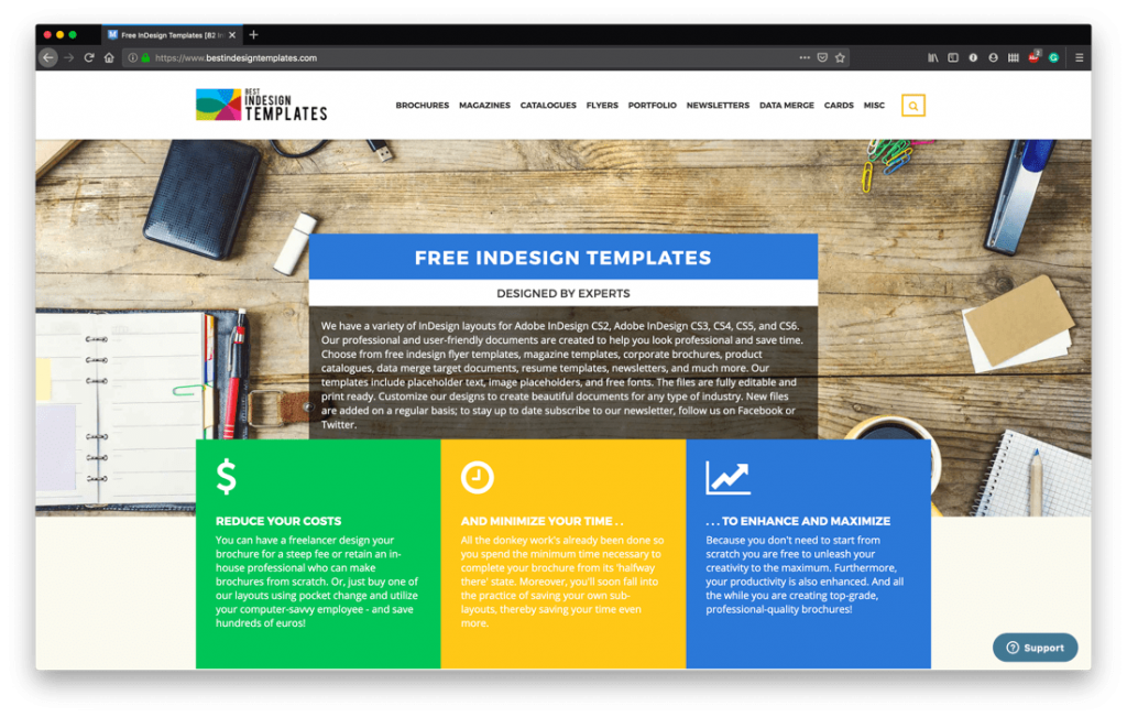 Free InDesign Template Sites - Best Indesign Templates