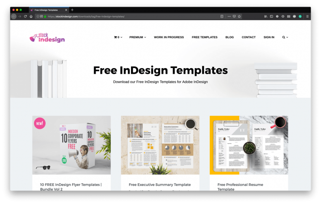 Free InDesign Template Sites - Stock Indesign