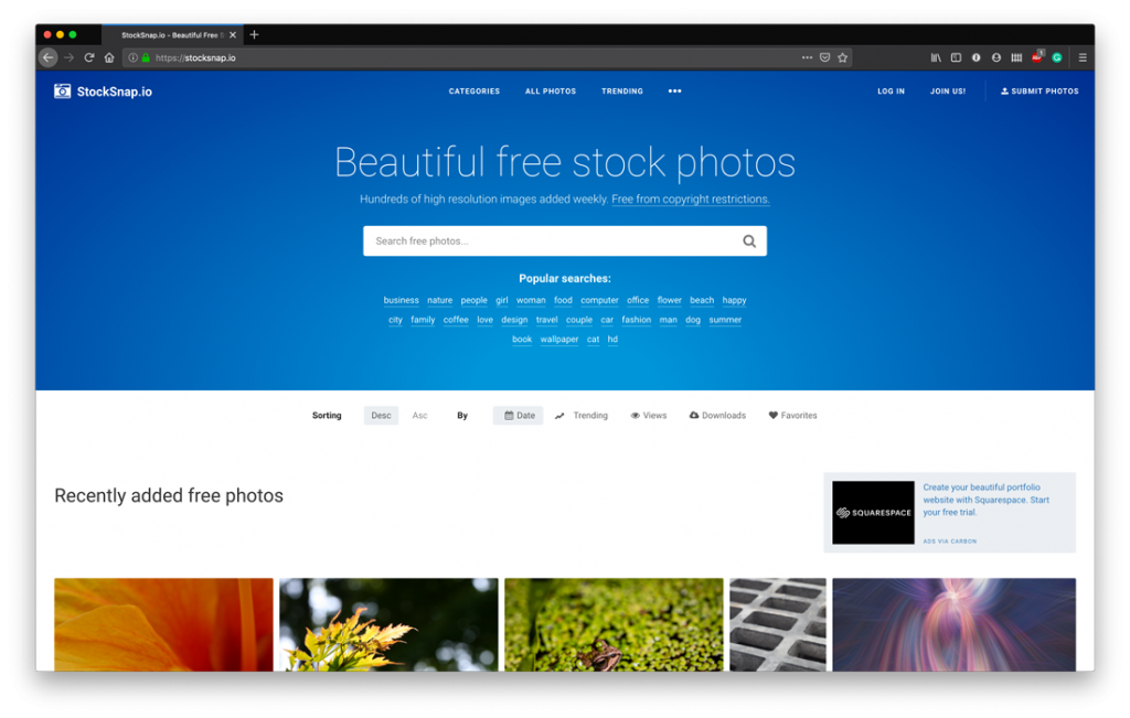 Top Free Stock Photo Sites - StockSnap