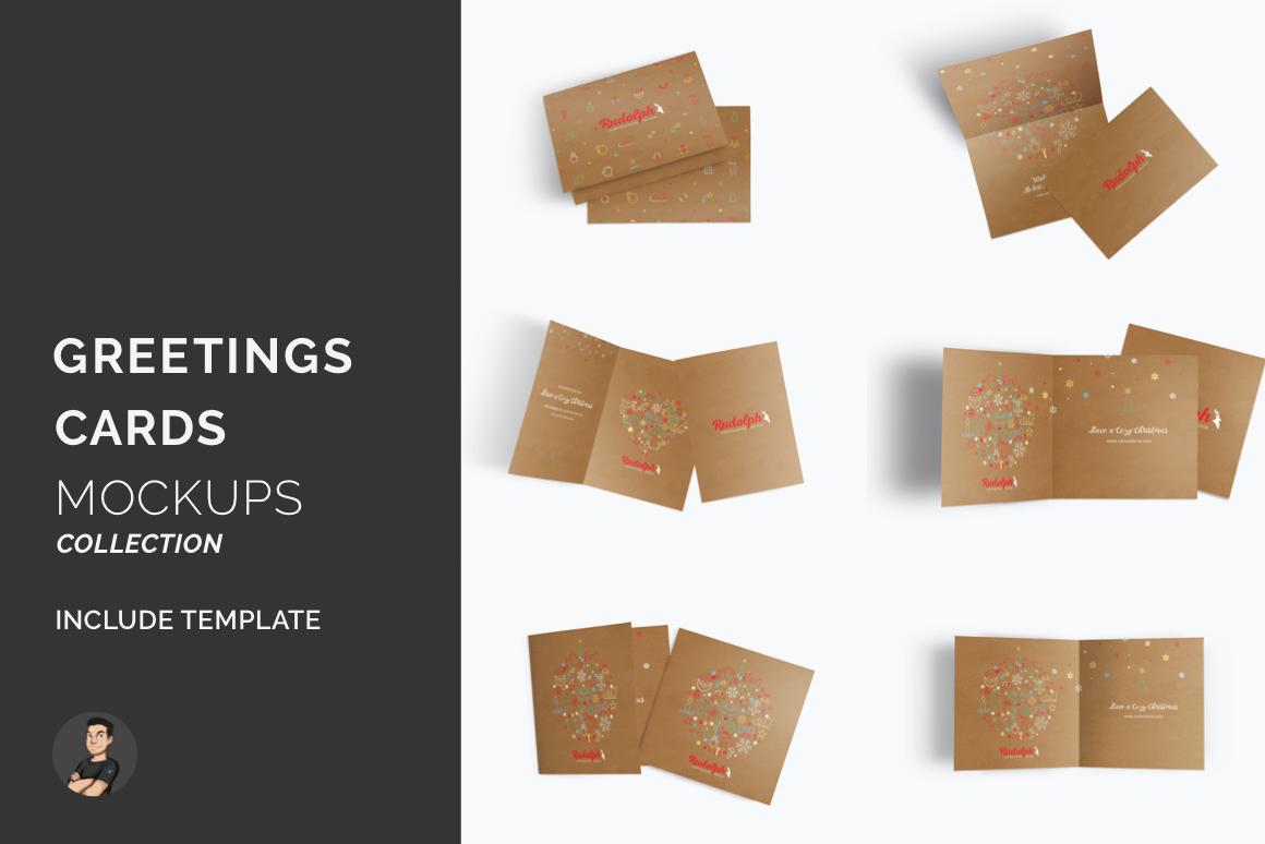 Greetings Card Mockups Pack