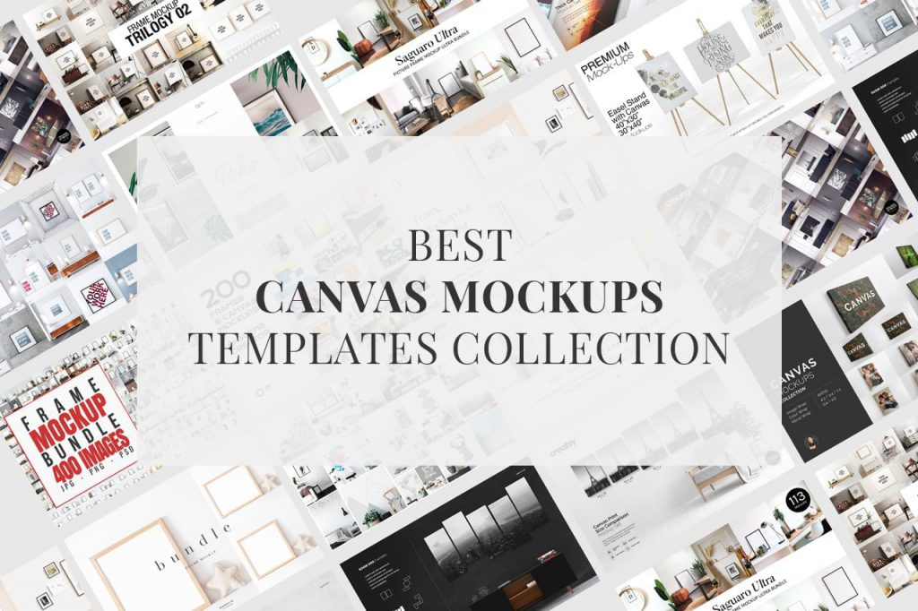 Best Print Canvas Mockups Template Collection