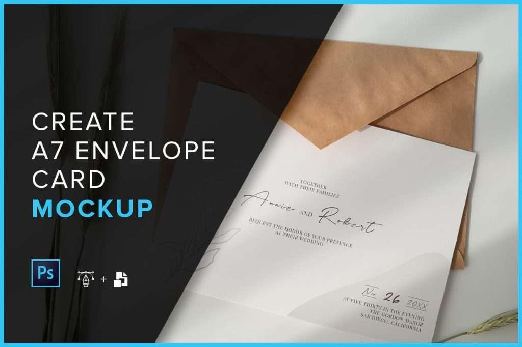 Create A7 Envelope Mockup - Tutorial
