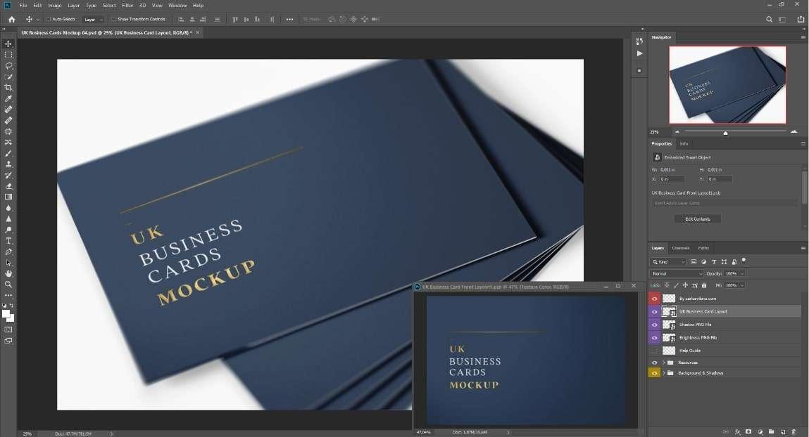 uk visit card mockup for branding designscarlosviloria